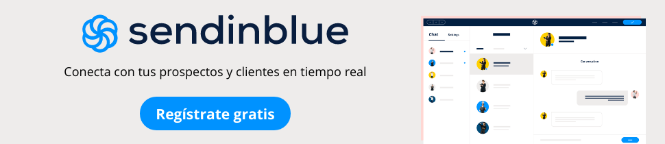 Chat web con sendinblue